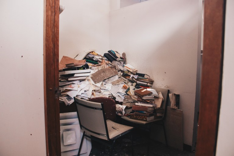 Photo 1: Class room destroyed by hurricane in Puerto Rico