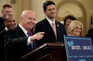 Chairman of the House Ways and Means Committee Kevin Brady (R-TX) and Speaker of the House Paul Ryan (R-WI) and unveil legislation to overhaul the tax code on Capitol Hill in Washington, U.S., November 2, 2017.   REUTERS/Joshua Roberts - RC152123A080