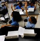 Student raise their hands