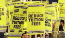 Students rally to get the government to reinvest the CN$3.5 billion in cuts to education in Ottawa, February 2. There has been 120 percent increase in tuition increases since 1990, and the average student accrues about CN$17,000 in student loans.  JY - RP2DRHYRFMAB