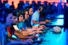 "Visitors play ""Heroes of the Storm"", developed by video game producer Blizzard Entertainment, using PCs during the Gamescom fair in Cologne, Germany August 6, 2015. The Gamescom convention, Europe's largest video games trade fair, runs from August 5 to August 9. REUTERS/Kai Pfaffenbach - LR2EB860QMUX6"