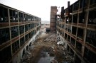 The abandoned and decaying manufacturing plant of Packard Motor Car is seen in Detroit, Michigan April 2, 2011.