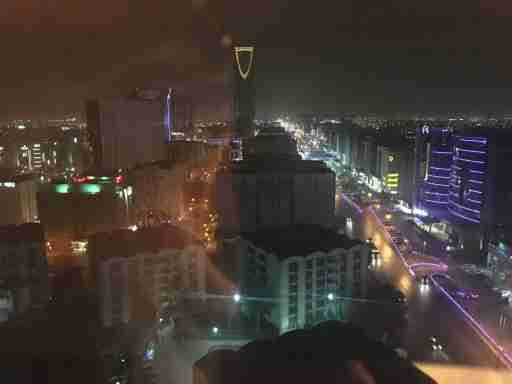 The iconic image of Riyadh: Kingdom Tower. Riyadh is a city of 5 million, officially, and growing. Urbanization in the kingdom has been extremely rapid—76 percent of Saudis live in cities today, and by 2030 nearly all will. Riyadh is now building a subway, and the growth has created urgent needs for housing and urban infrastructure.