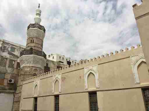 Al Shafi'i Mosque in old Jeddah, considered the oldest remaining mosque in the city (the minaret is estimated at 900 years old and parts of the building may be much older). It's been under renovation for years.