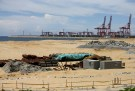 "The China-funded ""Colombo Port City"" project, whose development is suspended, is seen in Colombo"