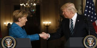 U.S. President Trump and German Chancellor Merkel hold a joint news conference in Washington.