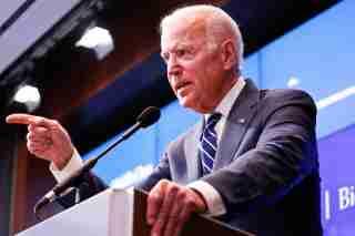 Vice President Joe Biden speaking at a Brookings-Biden Institute event, May 8, 2018 (Paul Morigi photos)