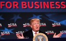 U.S. President Donald Trump speaks during a roundtable on tax cuts for Florida small businesses in Hialeah, Florida, U.S., April 16, 2018. REUTERS/Kevin Lamarque - RC1D875B4E00