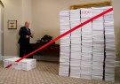 U.S. President Donald Trump prepares to cut a red tape while speaking about deregulation at the White House in Washington, U.S., December 14, 2017. REUTERS/Kevin Lamarque - RC1F03F618F0