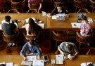 "Students sit in the library of the university KU Leuven ""Katholieke Universiteit Leuven"" in Leuven, Belgium"