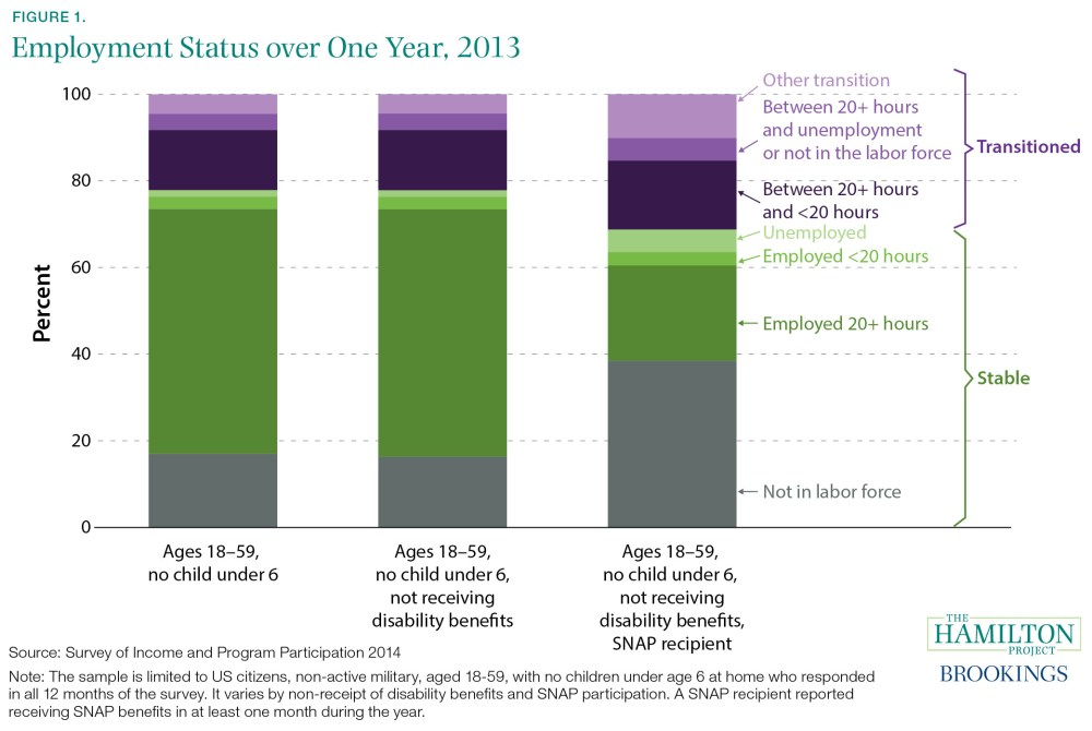 Employment Status over One Year, 2013