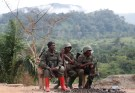 Congolese soldiers from the Armed Forces of the Democratic Republic of Congo (FARDC) rest in Namoya, Maniema Province, eastern Democratic Republic of the Congo, April 29, 2018. REUTERS/Goran Tomasevic - RC1436F67280