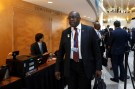 South Africa's Finance Minister Nhlanhla Nene arrives at G-20 plenary during the IMF/World Bank spring meeting in Washington, U.S., April 20, 2018. REUTERS/Yuri Gripas - RC1E22652BA0