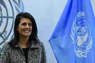 U.S. Ambassador to the United Nations Nikki Haley.