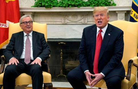European Commission President Jean-Claude Juncker and U.S. President Donald Trump