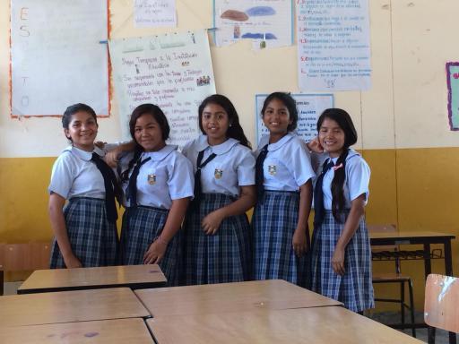 Girls in Peru