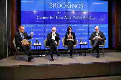 Panelists Jeffrey Feltman, James Baker, Ji-Hyang Jang, and Zachary Abuza
