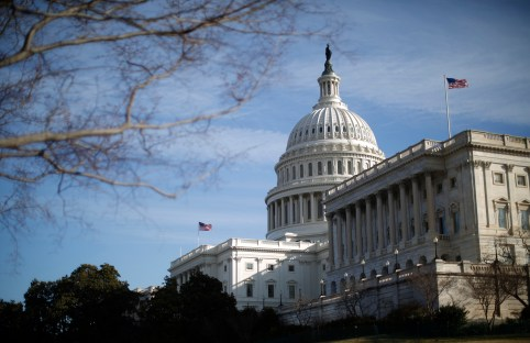 "A general view of the U.S. Capitol building in Washington February 28, 2013. Positions hardened on Wednesday between U.S. President Barack Obama and Republican congressional leaders over the budget crisis even as they arranged to hold last-ditch talks to prevent harsh automatic spending cuts beginning this week. Looking resigned to the $85 billion in ""sequestration"" cuts starting on Friday, government agencies began reducing costs and spelling out to employees how furloughs will work.   REUTERS/Jason Reed   (UNITED STATES - Tags: POLITICS BUSINESS) - GM1E92S1U0N01"