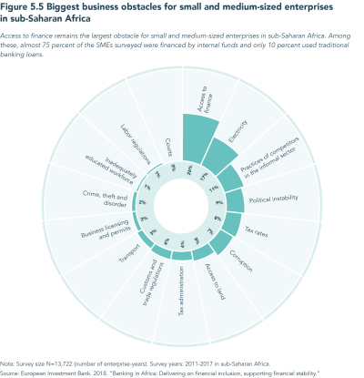 Figure 5.5 Biggest business obstacles for small and medium-sized enterprises in sub-Saharan Africa