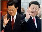 A combination picture shows (L) China's President Hu Jintao waving to delegates after the closing ceremony of the Chinese People's Political Consultative Conference (CPPCC) in Beijing March 14, 2008, and his possible successor (R) China's Vice President Xi Jinping waving to reporters as he leaves the Bellver Castle in Palma November 23, 2010. China has begun work on an 18-month reshuffle of its top economic and regulatory policy officials as part of a leadership transition that will see President Hu Jintao and Premier Wen Jiabao hand their posts to a younger generation. To match Insight CHINA-POLITICS/ REUTERS/Jason Lee (L) and Enrique Calvo (CHINA - Tags: POLITICS HEADSHOT) - GM1E7961STJ01
