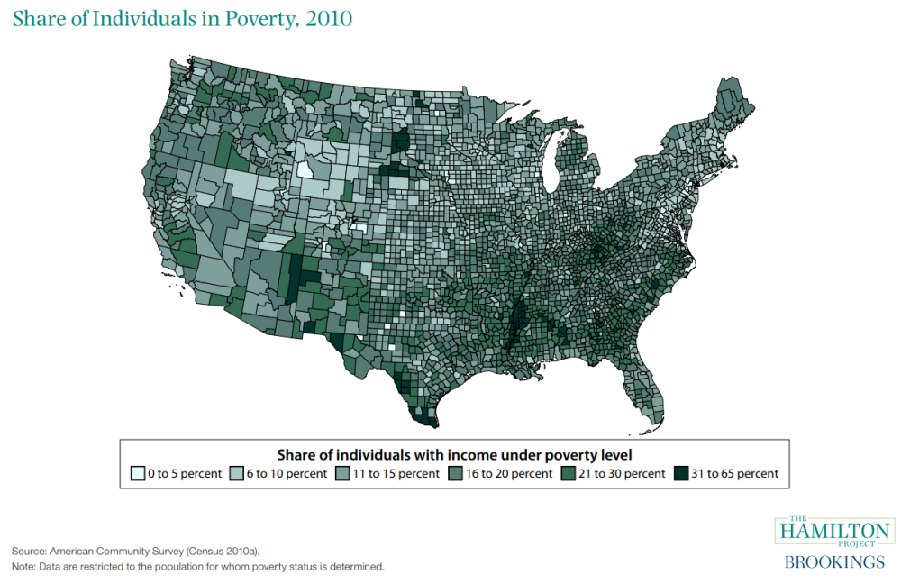 Map Of America By Race.How Racial And Regional Inequality Affect Economic Opportunity