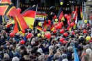 Supporters of the anti-Islam movement PEGIDA (Patriotic Europeans Against the Islamisation of the West) attend a demonstration in Dresden, Germany, October 21, 2018. REUTERS/David W. Cerny - RC126AC48970