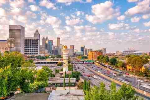 Traffic congestion in Atlanta, Ga,.