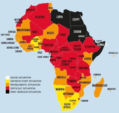 Figure 1: Freedom of the press in Africa (Source: 2019 World Press Freedom Index)