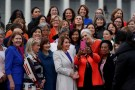 U.S. House Speaker Nancy Pelosi (D-CA) poses for a selfie during a photo opportunity with House Democratic women of the 116th Congress on Capitol Hill in Washington, U.S., January 4, 2019. REUTERS/Leah Millis??     TPX IMAGES OF THE DAY - RC1474F482B0