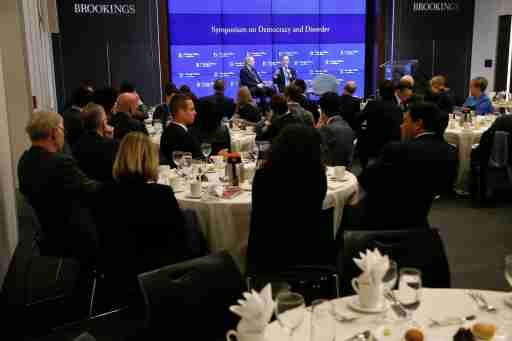 John Allen and Adam Schiff speak at the 2019 Democracy and Disorder Symposium.