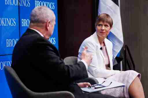 The president of Estonia speaks at Brookings.