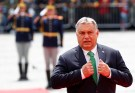 Hungarian Prime Minister Viktor Orban arrives for the informal meeting of European Union leaders in Sibiu, Romania, May 9, 2019. REUTERS/Francois Lenoir - RC1D05778E80