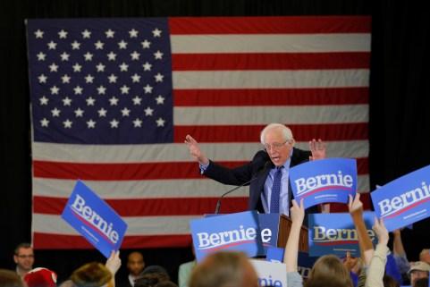 Democratic 2020 U.S. presidential candidate and U.S. Senator Bernie Sanders (I-VT) speaks at a campaign rally in Concord, New Hampshire, U.S., March 10, 2019.   REUTERS/Brian Snyder - RC17A4976E20