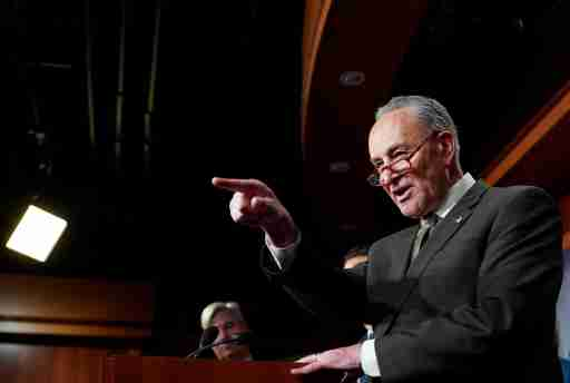 U.S. Senate Minority Leader Chuck Schumer (D-NY) speaks about the formation of the Senate Democrats' Special Committee on Climate Change on Capitol Hill in Washington, D.C., U.S., March 27, 2019. REUTERS/Joshua Roberts - RC1E7C265D50