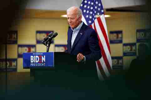 Democratic 2020 U.S. presidential candidate and former Vice President Joe Biden speaks at an event at the Mississippi Valley Fairgrounds in Davenport, Iowa, U.S. June 11, 2019.  REUTERS/Jordan Gale - RC1849B52340