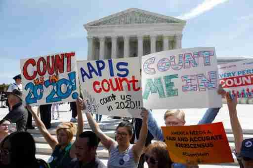 Demonstrators gather outside the U.S. Supreme Courthouse in Washington, U.S., April 23, 2019. REUTERS/Shannon Stapleton - RC198137D7A0