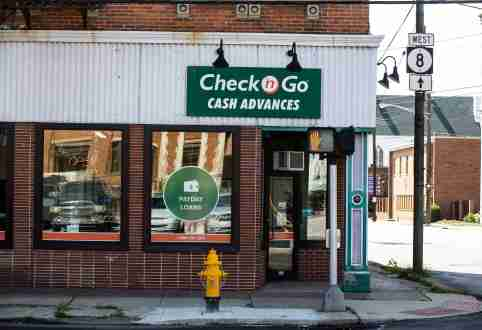 Check 'n Go Cash Advances and Payday Loans on Scott Street in Covington. Photo shot Wednesday, August 28, 2019.Road Paydayloan1