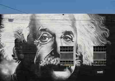 Albert Einstein mural at 1227 Logan St.Moresmoketownmurals 01