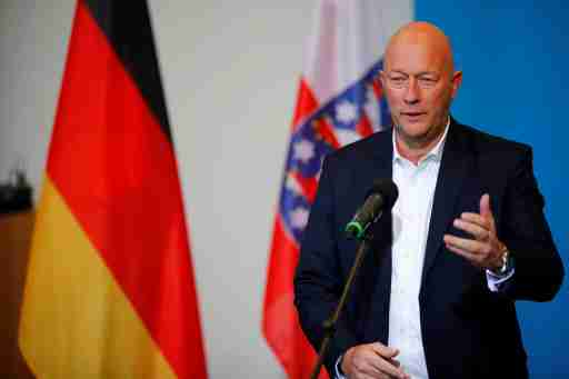 New elected Free Democratic Party FDP premier of Thuringia Thomas Kemmerich gives a statement in Erfurt, Germany, February 5, 2020. REUTERS/Hannibal Hanschke