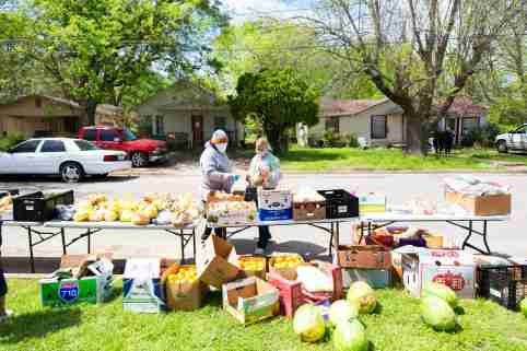 Food drive during COVID-19 pandemic