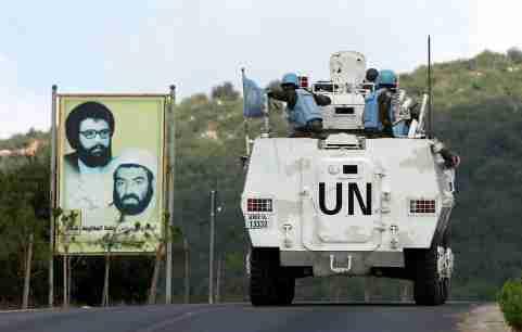UN peacekeepers (UNIFIL) patrol in southern Lebanese town of Ramyah, Lebanon September 9, 2019. REUTERS/Ali Hashisho