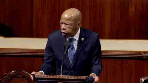 Rep. John Lewis (D-GA) speaks ahead of a vote on two articles of impeachment against U.S. President Donald Trump on Capitol Hill in Washington, U.S., in a still image from video December 18, 2019. House TV via REUTERS. THIS IMAGE HAS BEEN SUPPLIED BY A THIRD PARTY.