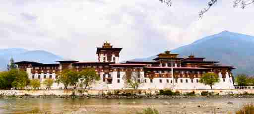 Punakha Dzong, the administrative centre and the seat of the Government of Bhutan until 1955