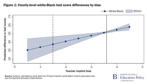 Différences de score au test blanc-noir au niveau du comté par biais