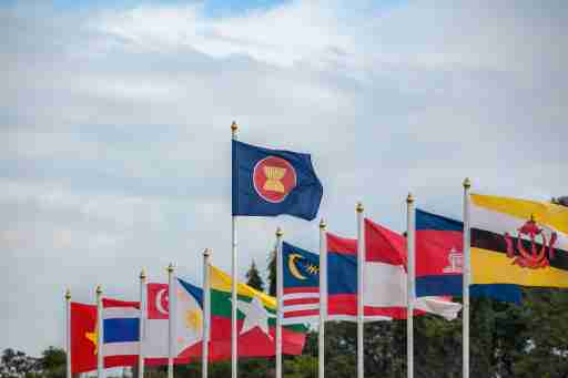 ASEAN and member state flags