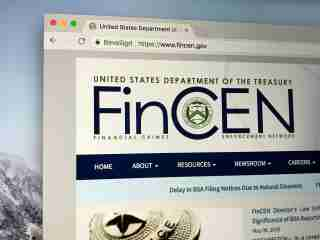 Image: U.S. Treasury Financial Crimes Enforcement Network website
