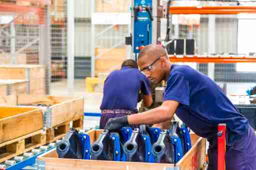 Johannesburg, South Africa - September 7 2016: Industrial Valve Manufacturing and Assembly Factory Facility