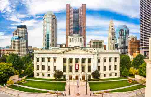 Ohio State House, in Columbus. The Ohio Statehouse is the state capitol building and seat of government for the U.S. state of Ohio