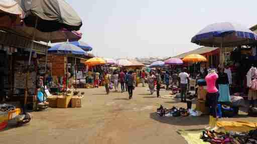 Abuja, Federal Capital Territory Nigeria. December 35, 2018: A cross section of Wuse Market Abuja