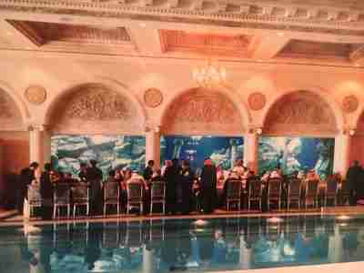 A photo from Bruce Riedel's collection of a dinner in Riyadh including Al Gore.